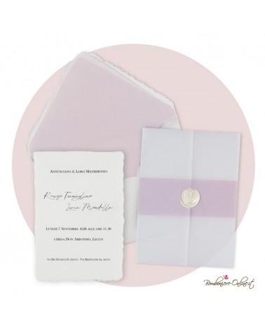 """Set coordinato Partecipazione e accessori Matrimonio """"Everything rosa"""""""