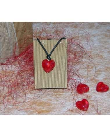 Ciondolo cuore Murano