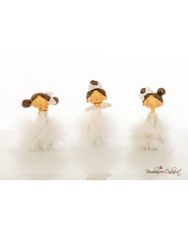 Bomboniera ballerina marabu seduta