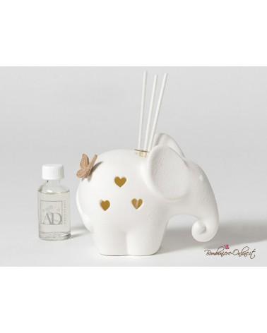 Profumatore Elefante con led con farfalla