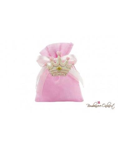 Sacchetto rosa magnete corona