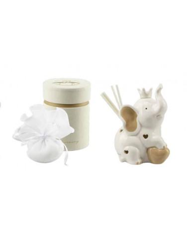 Bomboniera Profumatore con led elefantino in ceramica