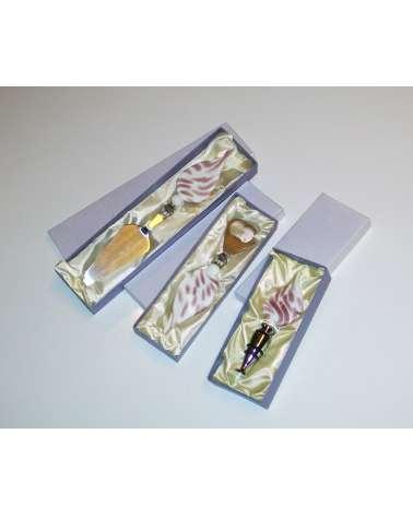 Serie attrezzi da cucina in vetro murano