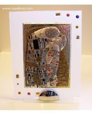 """Quadretto medio """"Omaggio a Klimt - Il bacio"""""""
