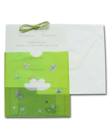 Biglietto nascita verde