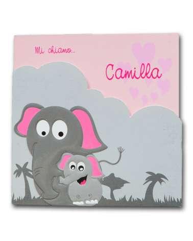 """Invito nascita """"Elefanti"""""""