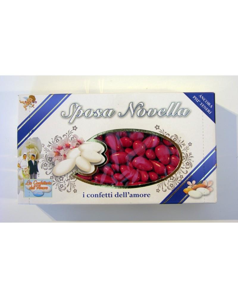Confetti PRISCO Sposa Novella mandorla rossi