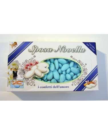 Confetti PRISCO Sposa Novella mandorla azzurri