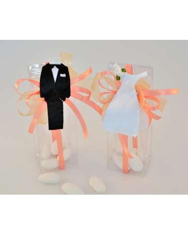 """Box confetti alto sposa e sposo """"Giorni felici"""""""