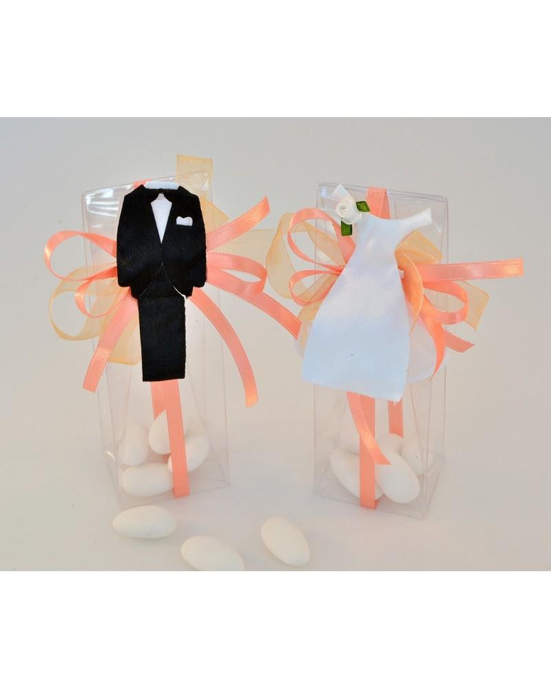 Scatola portaconfetti trasparente Sposi