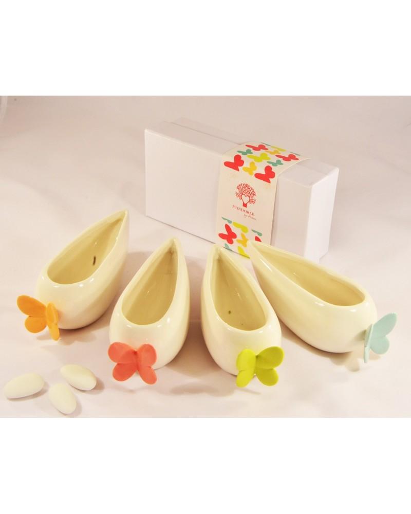 Bomboniera matrimonio salsiera in ceramica
