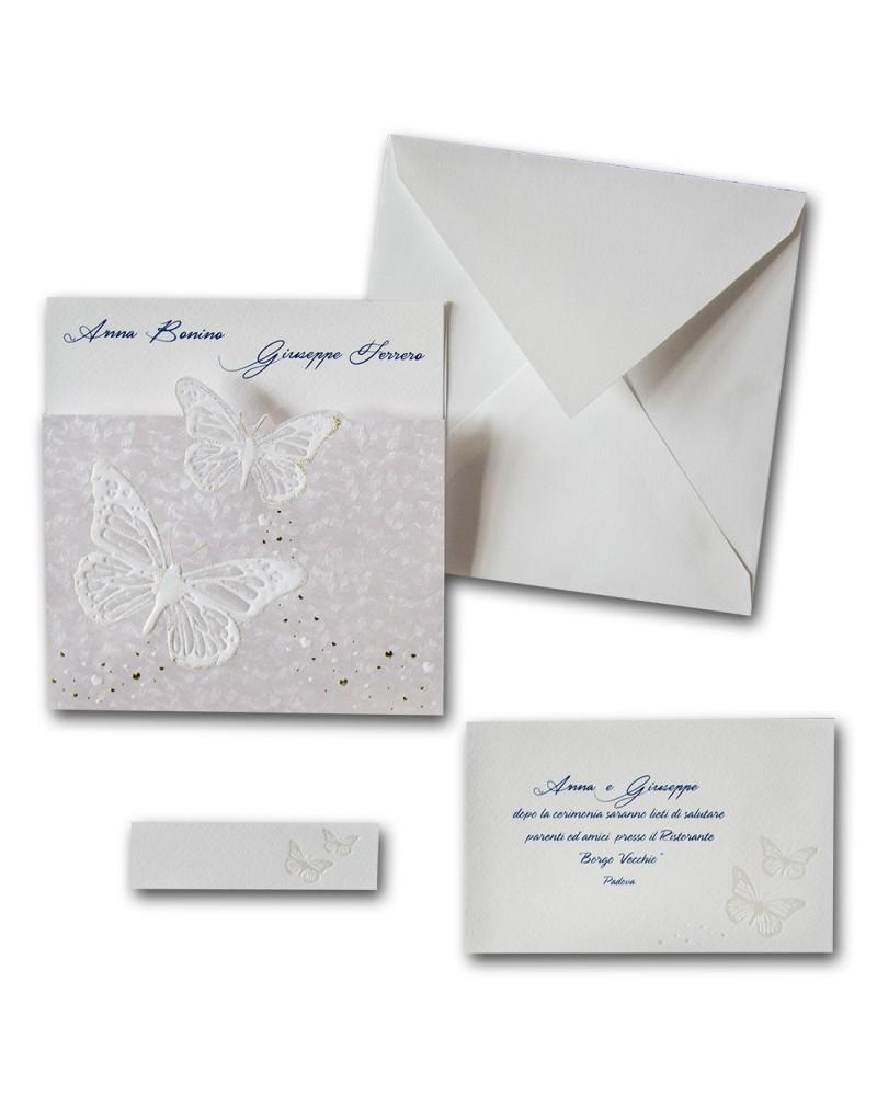 Partecipazione Matrimonio con Invito Butterfly
