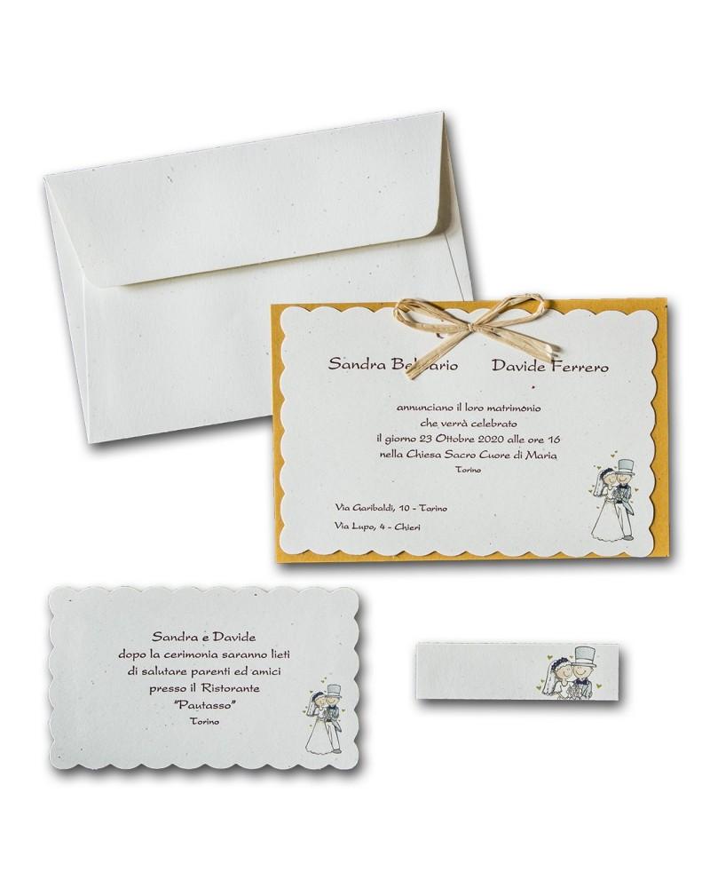 Partecipazioni Matrimonio Torino.Partecipazione Sposi Composta