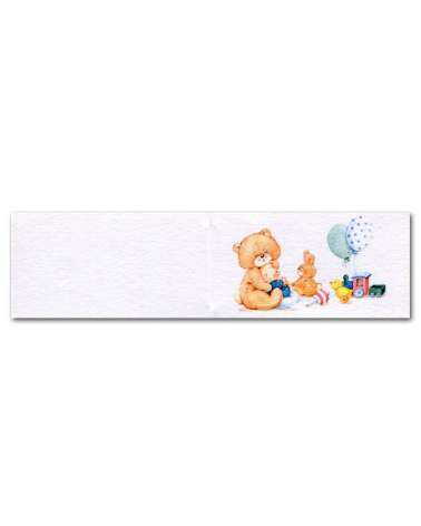 Biglietti bomboniera orsetto con palloncini