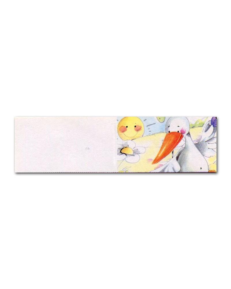 Biglietti bomboniera battesimo cicogna con sole