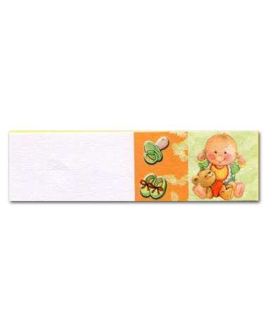 Biglietti bomboniera battesimo arancione e verde