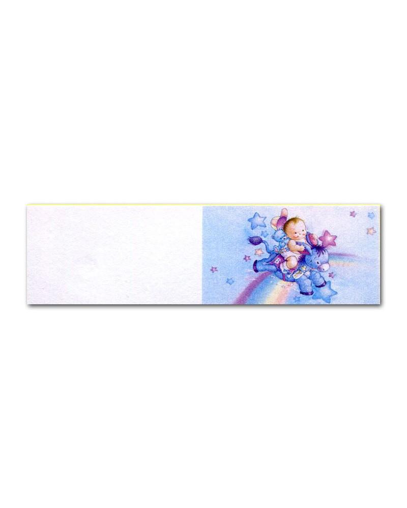 Biglietti bomboniera battesimo asinello azzurro