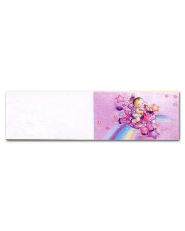 Biglietti bomboniera battesimo asinello rosa