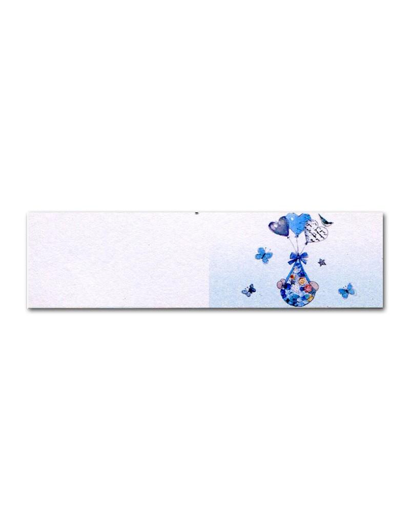 Biglietti bomboniera battesimo pallonici azzurro
