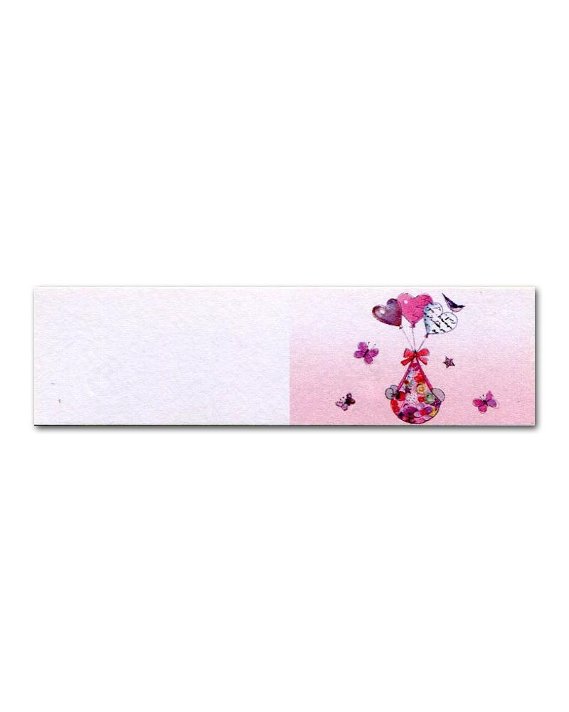 Biglietti bomboniera battesimo pallonici rosa