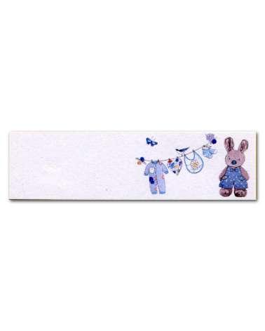 Biglietti bomboniera battesimo coniglietto azzurro
