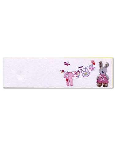 Biglietti bomboniera battesimo coniglietto rosa