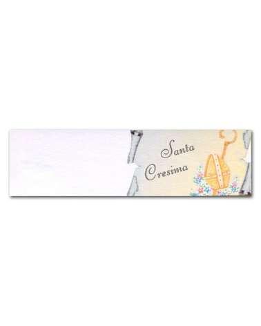 Biglietti bomboniera santa comunione tiara