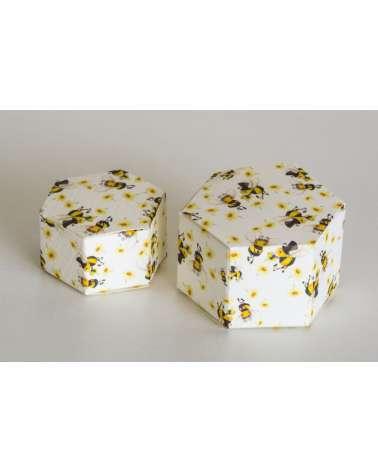 Box portaconfetti esagono piccolo coccinelle