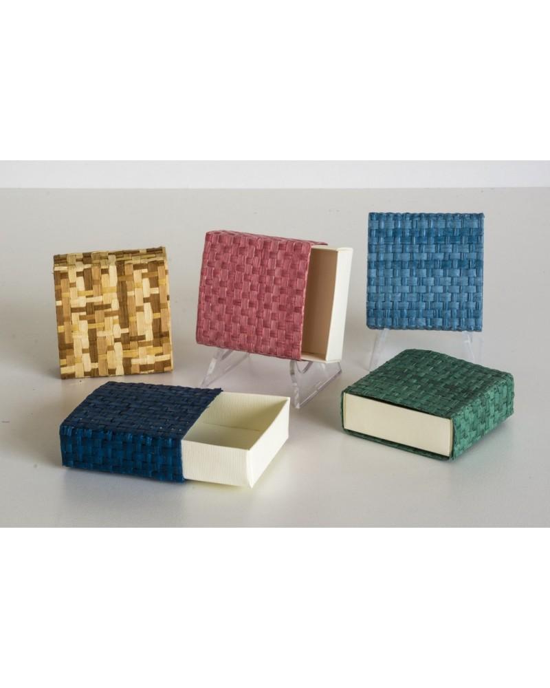 Portaconfetti in paglia di Firenze box cerini