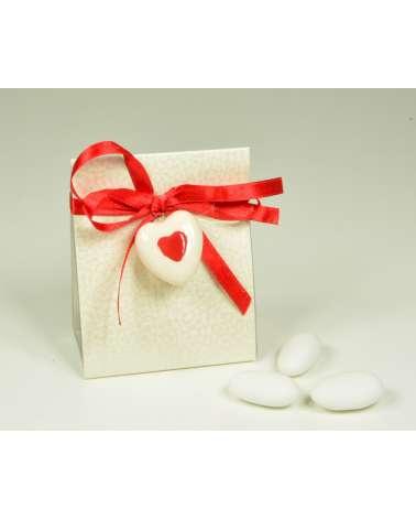"""Box scatolina con ciondolo """"Cuore rosso"""""""