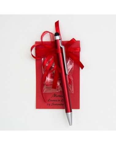 Segnaposto piccolo personalizzato c/penna touch Laurea
