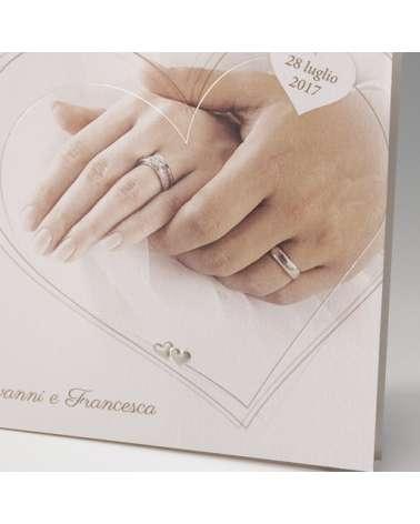 """Partecipazione nozze: """"Mani Amore eterno"""""""