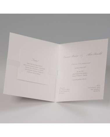 """Partecipazione Matrimonio """"Motivo floreale con invito incluso"""" in set con segnaposto e menù"""