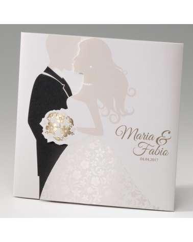 """Partecipazione matrimonio: """"Marriage gold"""""""