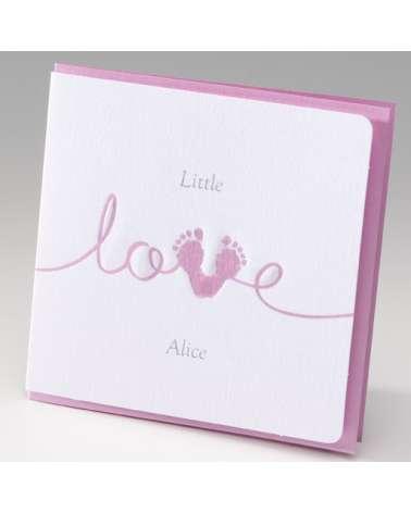 """Biglietto """"Love rosa"""""""