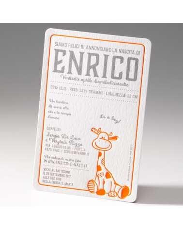 """Biglietto """"Giraffina"""""""