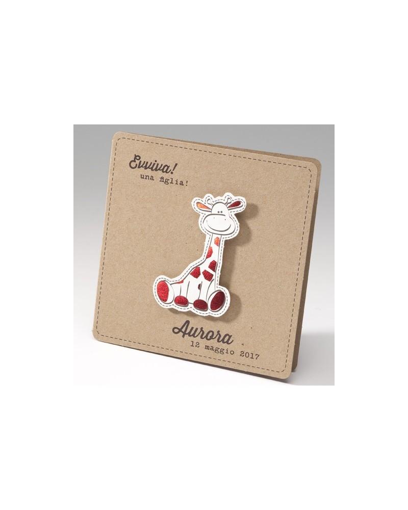 """Biglietto """"Avana giraffina rossa"""""""