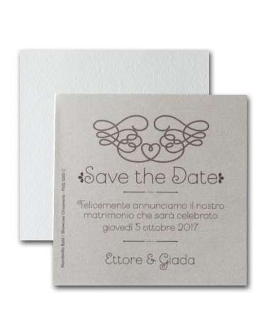 Save the Date Perlescente - 4 Pz.