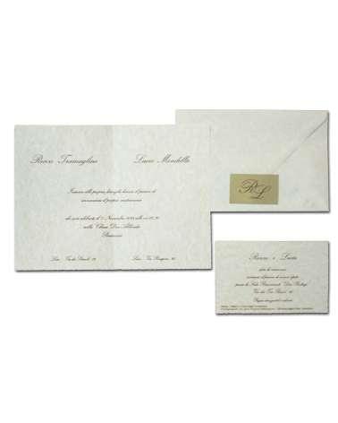 Partecipazione avorio pergamena liscia