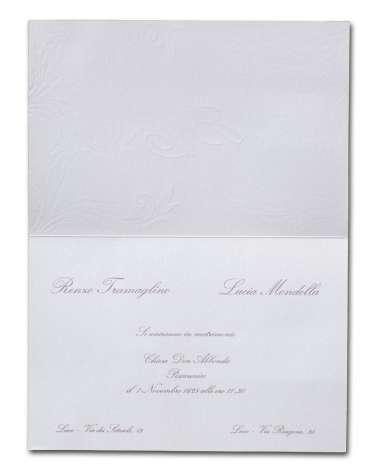 Partecipazione avorio in carta perlata