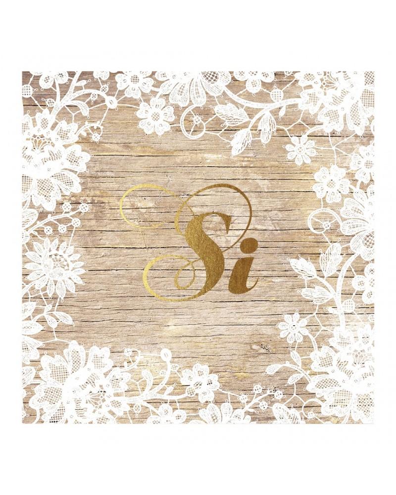 Partecipazione fiori bianchi su effetto legno for Effetto legno su muro