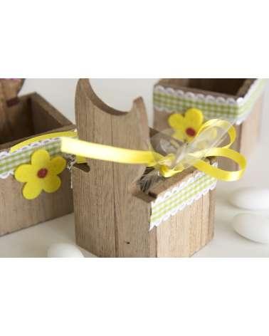 Portamatite in legno con gufetti colorati