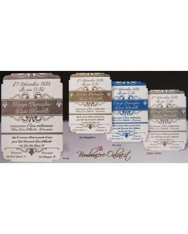 Partecipazione Tessels carta 850 gr cotone