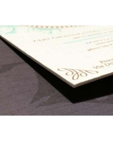 Partecipazione Regency carta 850 gr 2 colori