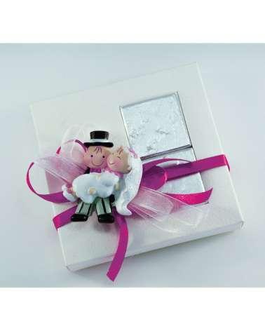 """Segnaposto box c/magnete e cioccolatini """"Oggi sposi"""""""