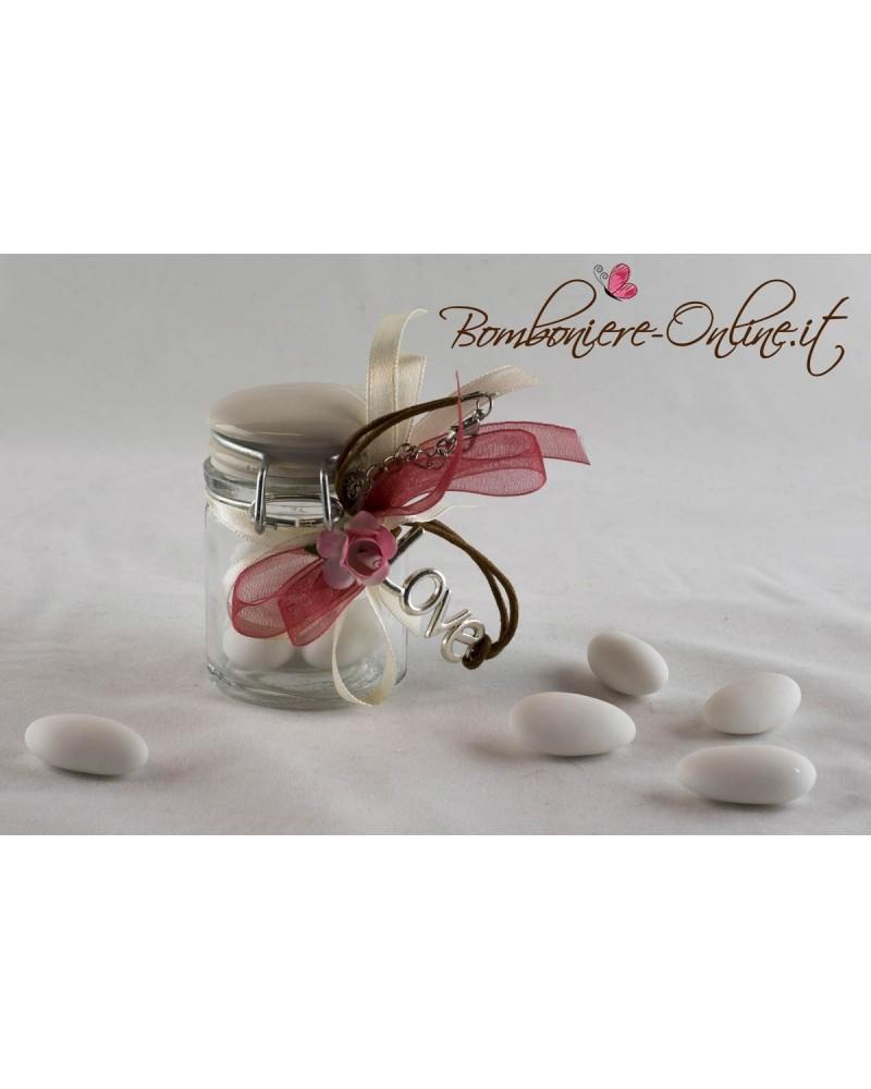 Braccialetto Love con barattolo tappo ceramica