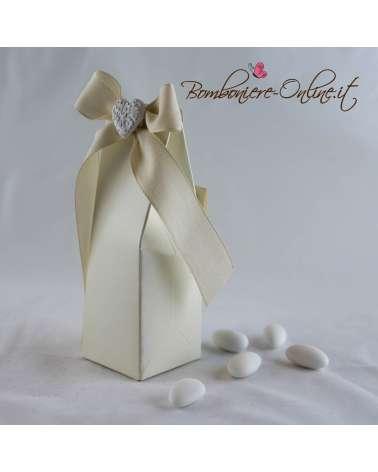Box alto portaconfetti Priscilla con gessetto cuore