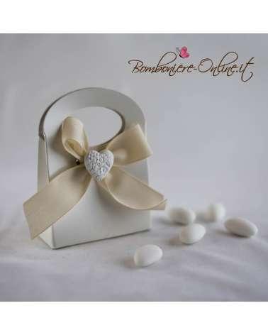 Borsetta box portaconfetti Priscilla con gessetto cuore
