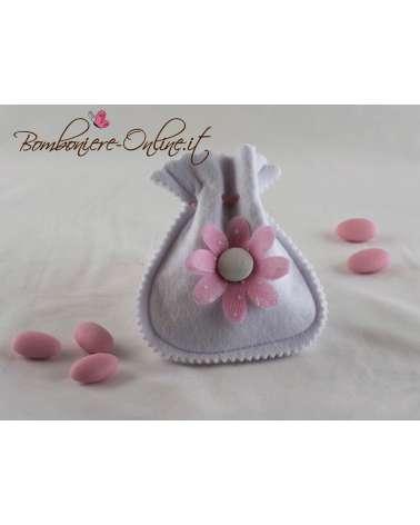Sacchetto anfora con fiore