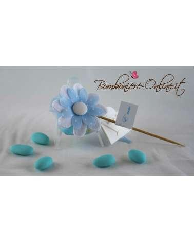 Fiore stick in panno
